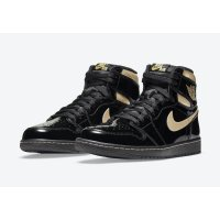 Shoes Hi top trainers Nike Air Jordan 1 High Black Metallic Black/Black-Metallic Gold