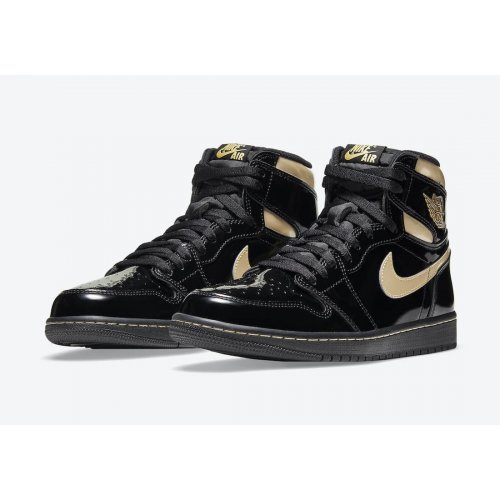Shoes Hi top trainers Nike Air Jordan 1 High Black Metallic Black/Black-Metallic Gold