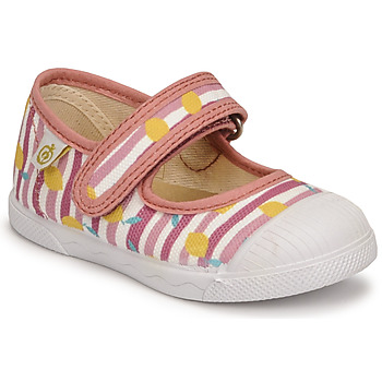 Shoes Girl Flat shoes Citrouille et Compagnie APSUT Pink / Printed