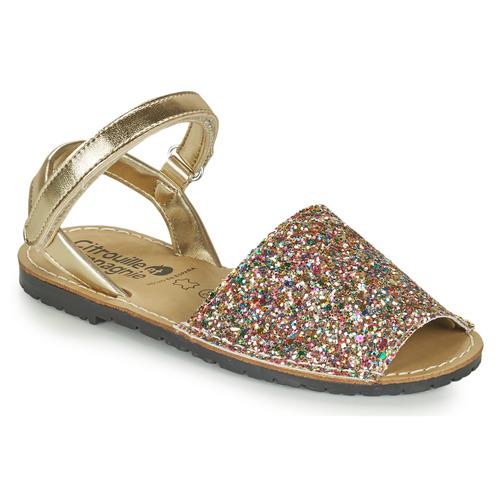 Shoes Girl Sandals Citrouille et Compagnie SQUOUBEL Multicoloured