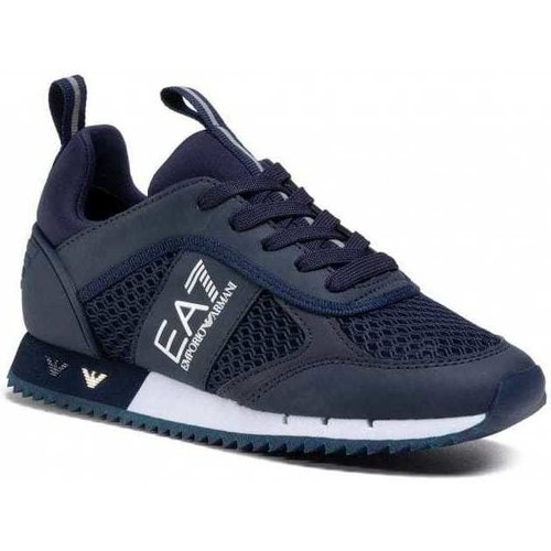 Shoes Men Low top trainers Ea7 Emporio Armani X8X027XK050_d183navy blue