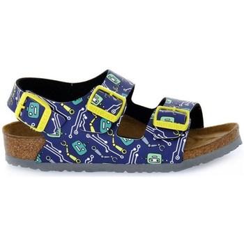 Shoes Children Sandals Birkenstock Milano Robots Blue, Yellow