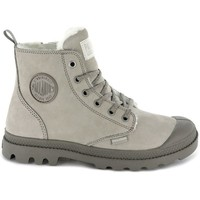 Shoes Women Hi top trainers Palladium Pampa HI Zip Wool Grey