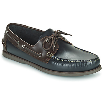 Shoes Men Boat shoes Pellet Vendée Blue / Brown