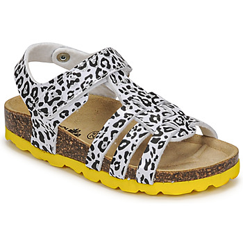 Shoes Girl Sandals Citrouille et Compagnie JANISOL Leopard / White / Black