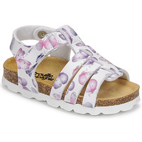Shoes Girl Sandals Citrouille et Compagnie MALIA White / Printed