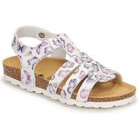 Shoes Girl Sandals Citrouille et Compagnie MALIA White / Printed