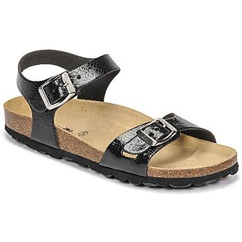 Shoes Girl Sandals Citrouille et Compagnie RELUNE Black / Serpent