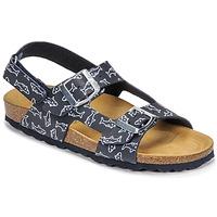 Shoes Boy Sandals Citrouille et Compagnie KELATU Marine / Printed