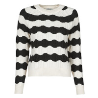 Clothing Women Jumpers Only ONLKAITLIN Black / White