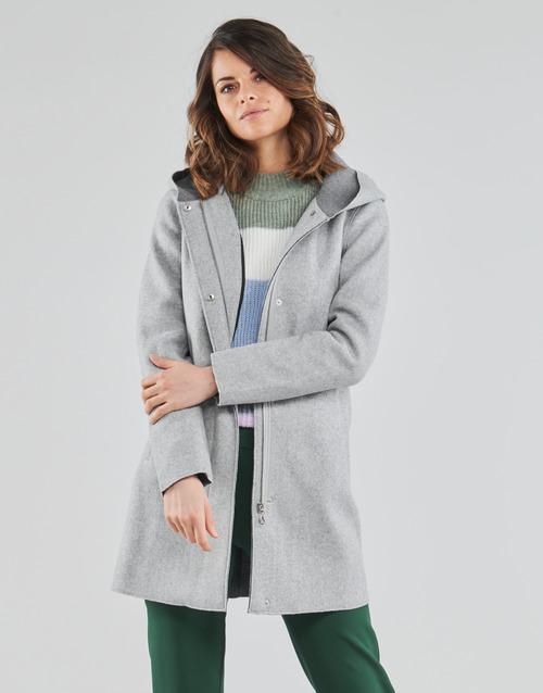 Clothing Women Coats Only ONLSIRI Grey