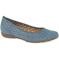 Shoes Women Flat shoes Gabor Ruffle Womens Punched Detail Casual Shoes blue