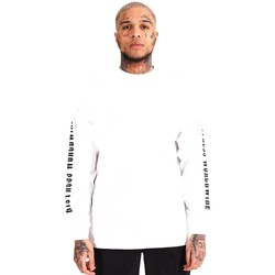 Clothing Men Long sleeved tee-shirts Distress  White