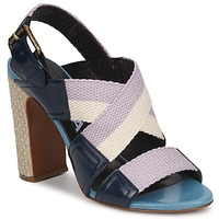Shoes Women Sandals Rochas NASTR Black / Purple / Ecru