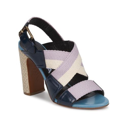 Shoes Women Sandals Rochas NASTR Black / Purple / Ecru