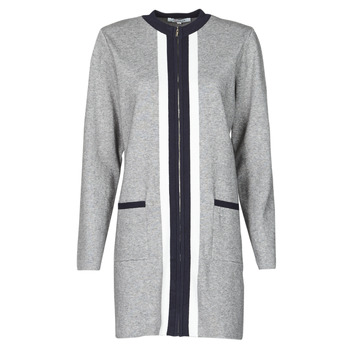 Clothing Women Jackets / Cardigans Morgan MFOX Grey / Black / White