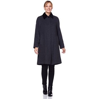 Clothing Women Coats De La Creme - Women's Wool and Cashmere Blend Swing Winter Coat Black