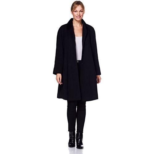 Clothing Women Coats De La Creme - Women's Wool and Cashmere Blend Swing Winter Coat Black