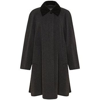 Clothing Women Coats De La Creme - Women's Wool and Cashmere Blend Swing Winter Coat Grey