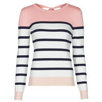 Clothing Women Jumpers Betty London ORALI Pink / Ecru