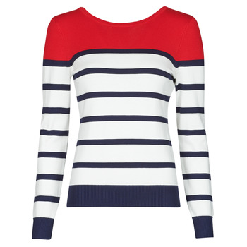 Clothing Women Jumpers Betty London ORALI Red / Ecru