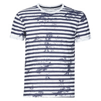 Clothing Men Short-sleeved t-shirts Yurban OLORD Marine / White