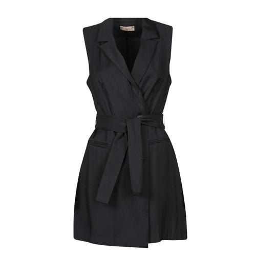 Clothing Women Short Dresses Moony Mood OLALA Black