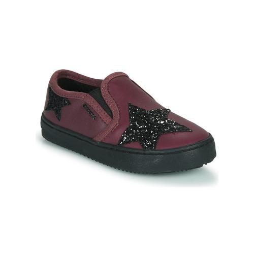 Shoes Girl Low top trainers Geox J KALISPERA FILLE Purple