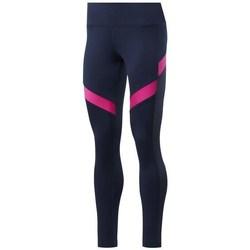 Clothing Women Leggings Reebok Sport Wor Mesh Tight Navy blue, Pink