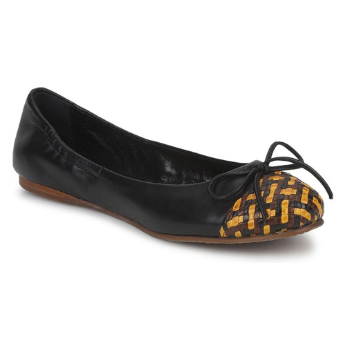 Shoes Women Flat shoes Stéphane Kelian WALLY Black / Yellow