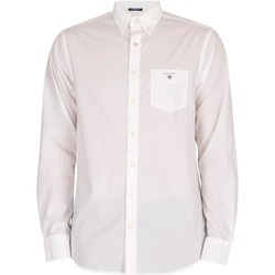 Clothing Men Long-sleeved shirts Gant The Broadcloth Regular Shirt white