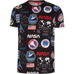 Clothing Men Short-sleeved t-shirts Alpha NASA AOP T-Shirt black
