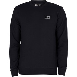Clothing Men Jumpers Emporio Armani EA7 Logo Sweatshirt blue