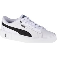 Shoes Women Low top trainers Puma Smash Platform V2 L White, Black