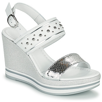Shoes Women Sandals NeroGiardini COMMET White / Silver
