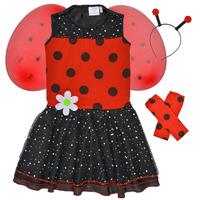 Clothing Girl Fancy Dress Fun Costumes COSTUME ENFANT BIRDIE BEETLE Multicolour
