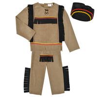 Clothing Boy Fancy Dress Fun Costumes COSTUME ENFANT INDIEN BIG BEAR Multicolour