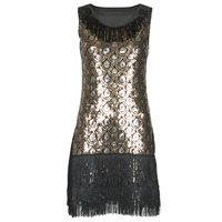 Clothing Women Fancy Dress Fun Costumes ROBE ADULT FLAPPER PEACOCK Multicolour
