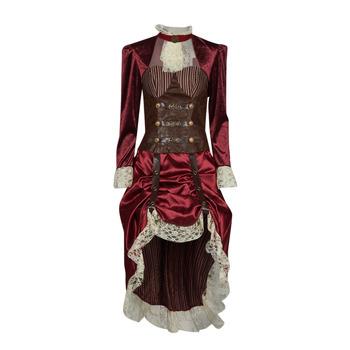 Clothing Women Fancy Dress Fun Costumes COSTUME ADULTE LADY STEAMPUNK Multicolour
