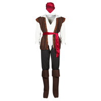 Clothing Men Fancy Dress Fun Costumes COSTUME ADULTE PIRATE THUNDER Multicolour