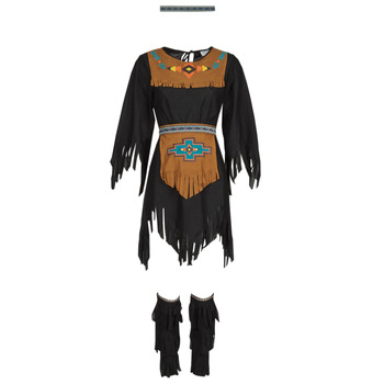 Clothing Women Fancy Dress Fun Costumes COSTUME ADULTE INDIENNE SHE-WOLF Multicolour