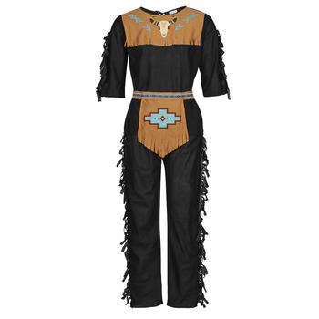 Clothing Men Fancy Dress Fun Costumes COSTUME ADULTE INDIENNE SHE-WOLF Multicolour
