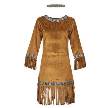 Clothing Women Fancy Dress Fun Costumes COSTUME ADULTE INDIENNE YOUNG DEER Multicolour
