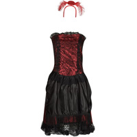 Clothing Women Fancy Dress Fun Costumes COSTUME ADULTE SALOON GIRL Multicolour