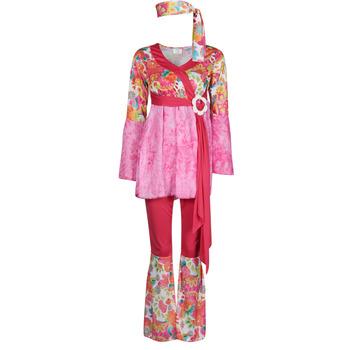 Clothing Women Fancy Dress Fun Costumes COSTUME ADULTE HAPPY DIVA Multicolour
