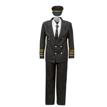 Clothing Men Fancy Dress Fun Costumes COSTUME ADULTE PILOTE Multicolour