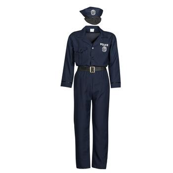 Clothing Men Fancy Dress Fun Costumes COSTUME ADULTE OFFICIER DE POLICE Multicolour