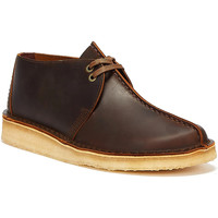 Shoes Men Mid boots Clarks Desert Trek Leather Mens Beeswax Brown Shoes Brown