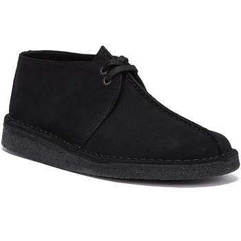 Shoes Men Mid boots Clarks Desert Trek Suede Mens Black Boots Black