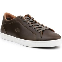 Shoes Men Low top trainers Lacoste Straightset 316 3 Cam Brown